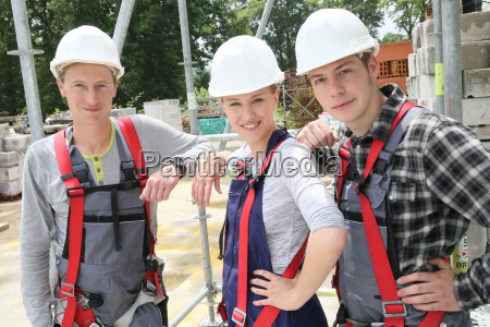 portrait of young people in construction