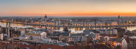 panorama von budapest ungarn