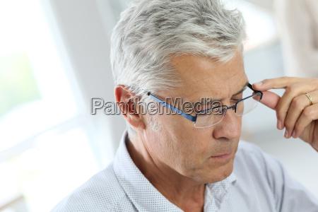 portrait of senior man with grey