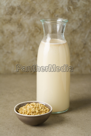 oat milk in a bottle
