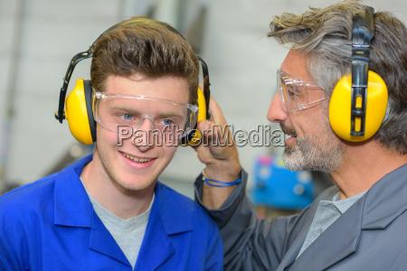 testing the ear muffs
