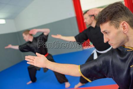 martial-arts-klasse, in, aktion - 17879080
