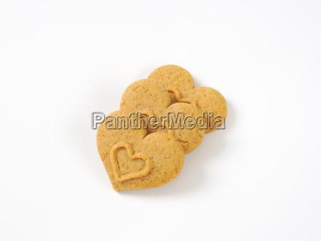 herzfoermige kekse