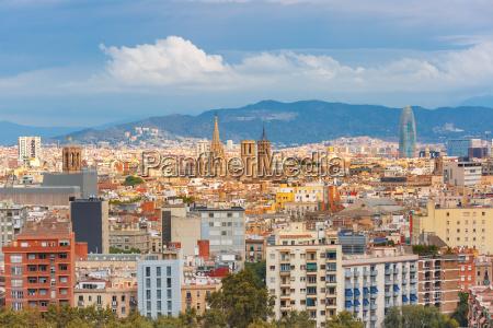 luftaufnahme von barcelona u200bu200bkatalonien spanien