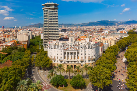 la rambla in barcelona katalonien spanien