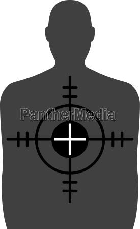 target ein schiessstand ziel mit