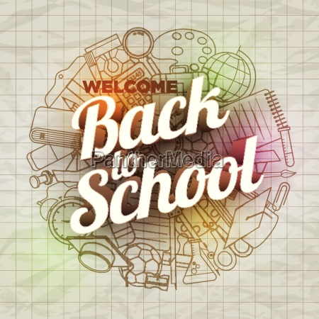 vector back to school text and