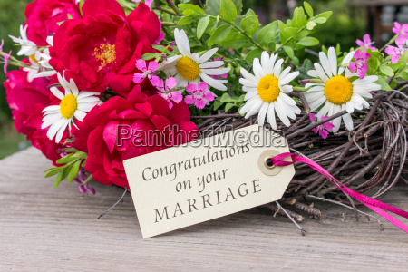 greeting card to wedding with summer