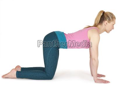 yoga woman pink position91