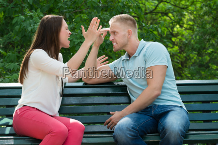 couple quarreling with each other