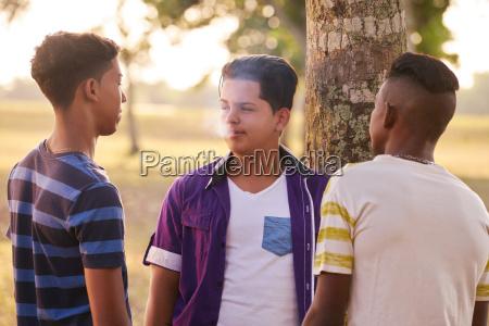 teenagere i park boy ryger elektroniske