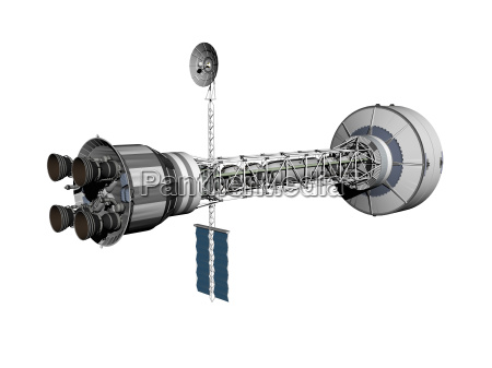 mars orbitalstation im all freigestellt