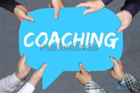 group people holding coaching consulting training