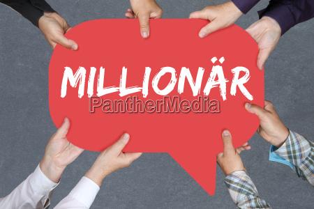 gruppe menschen halten millionaer reich reichtum