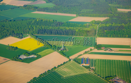 aerial of rural landscape near