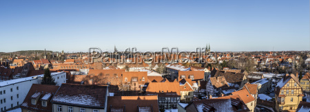 view to old medieval town of