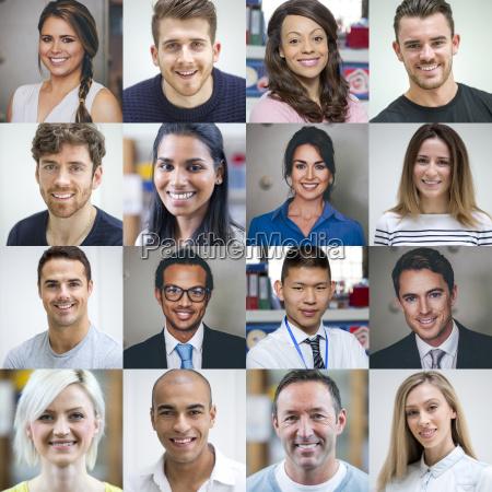 multi ethnische erwachsener portraits
