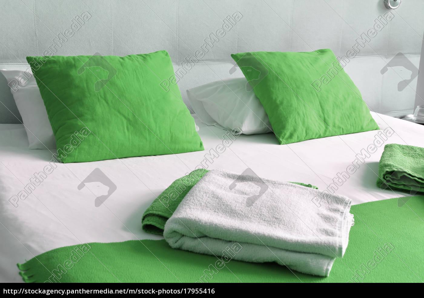 doppelbett, im, hotelzimmer., unterkunft - 17955416