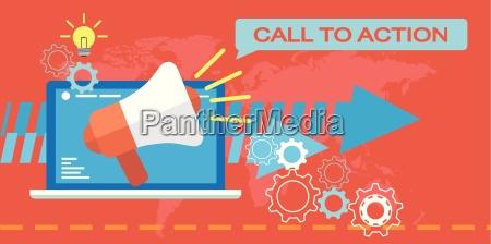 web marketing aufruf zum handeln
