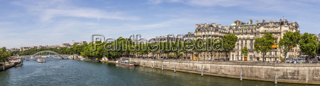 cityscape of paris with the seine