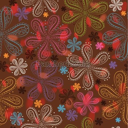 floral nahtlose muster bunte blumen