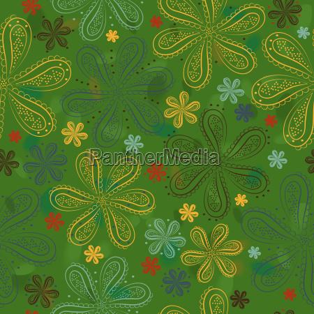 green floral nahtlose muster bunte blumen