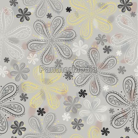 grau floral nahtlose muster