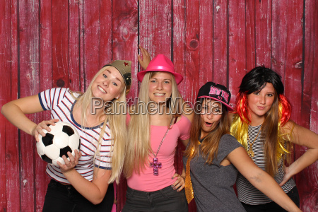 disguised girl with soccer party