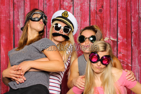 young girl with funny sunglasses have