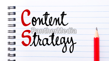 content strategy written on notebook page