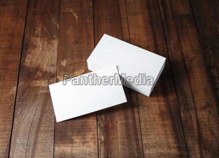 blank visitenkarten mock up