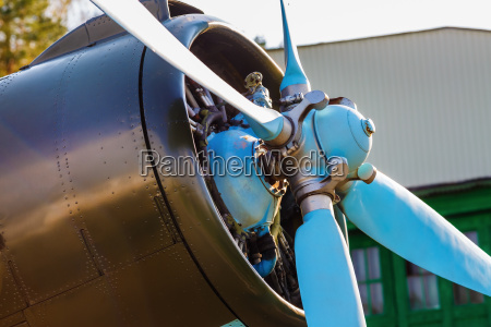 aircraft propeller close up