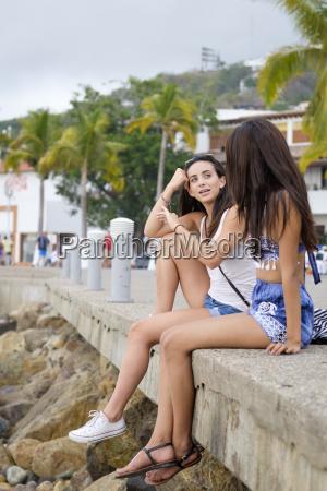 mexico puerto vallarta two young women