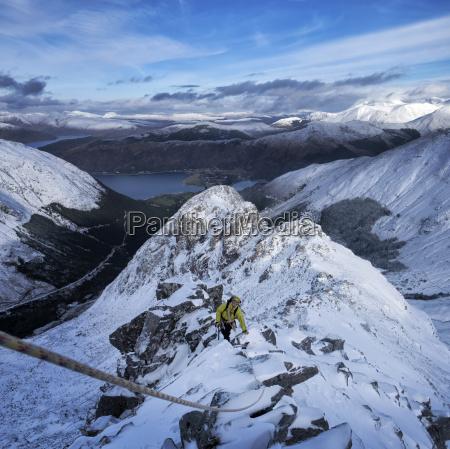 scotland glencoe beinn abheithir mountaineering