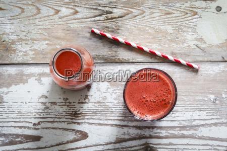 red vegetable juice