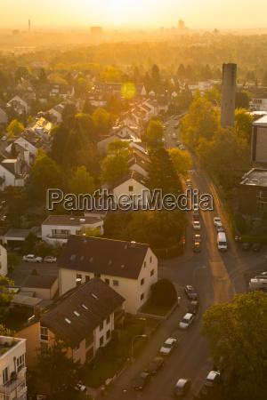 germany hesse frankfurt city view at