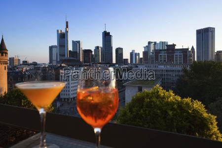 germany hesse frankfurt glasses in front