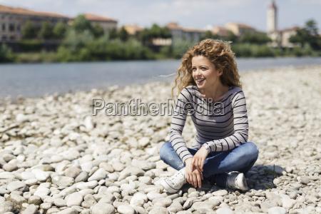 italy verona portrait of happy woman