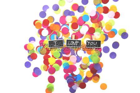 i love you wrote in tweezers