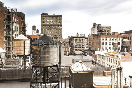 usa new york city buildings and