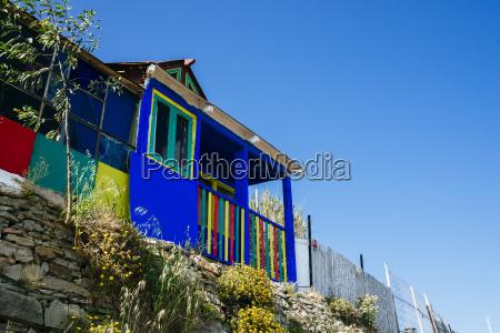 spain andalusia tarifa colorful house