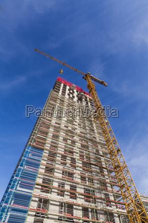 germany stuttgart construction site of new