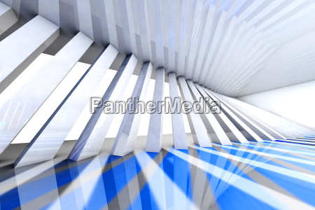 halle blau modern moderne fenster luke