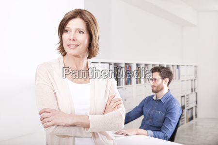 portrait of woman in the office
