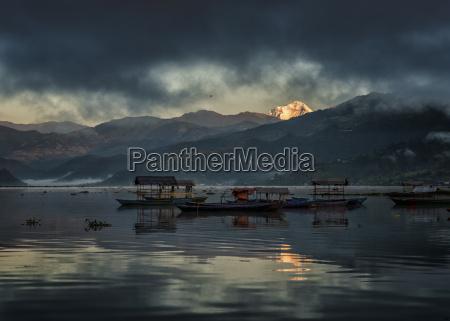 nepal annapurna pokhara phewa lake with