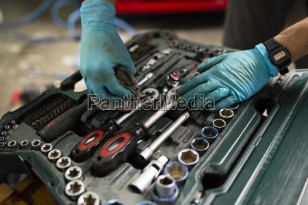 mechanische reinigungsmittel in der box