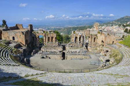 italy sicily taormina teatro greco