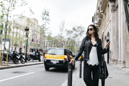 spain barcelona young woman in the