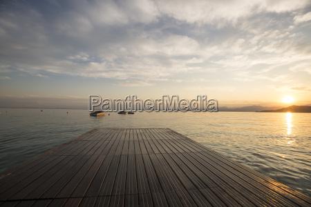 italy veneto bardolino lake garda pier