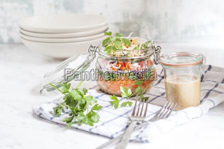 rainbow salad in a jar quinoa